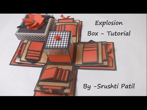 explosion box card instructions