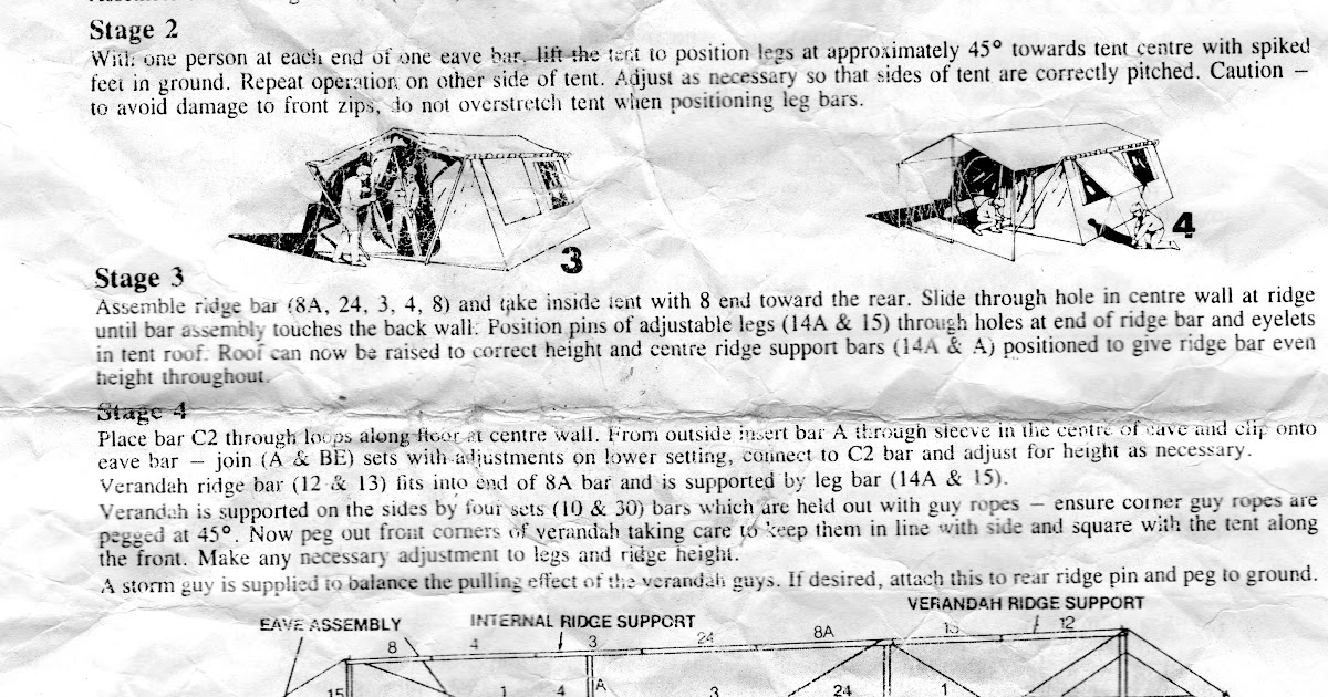 sunshine leisure tent instructions