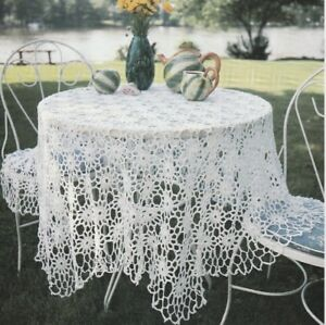 crochet tablecloth patterns instructions