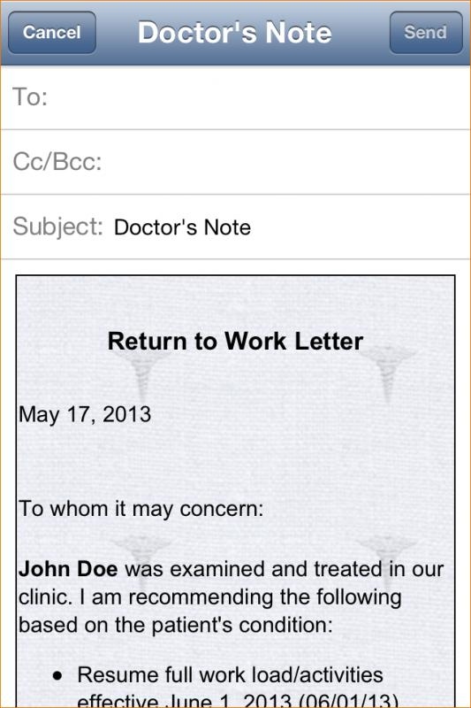 how to make a doctors note