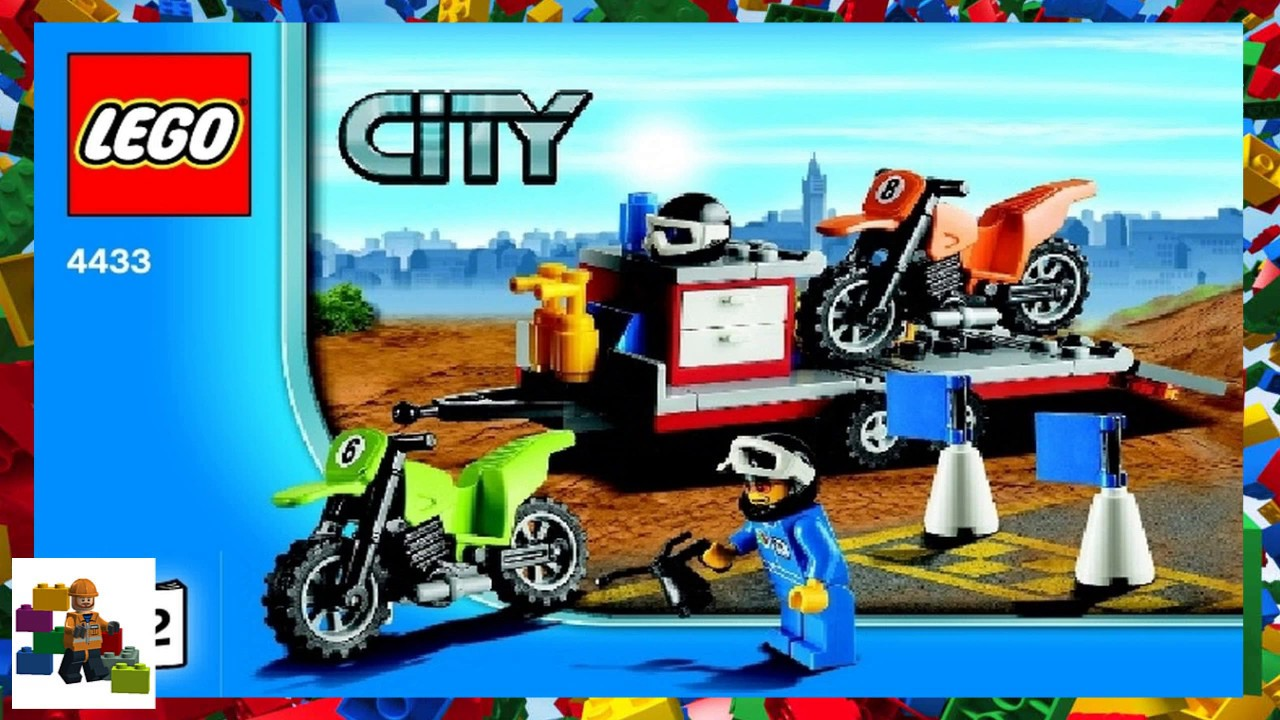 lego city car transporter instructions